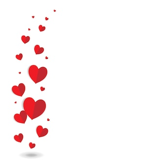 Valentinstagskarte mit roten herzen mit gradient mesh vector illustration