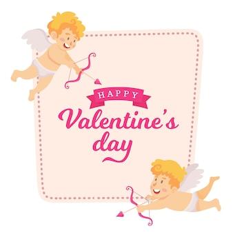 Valentinstagskarte vektorillustration