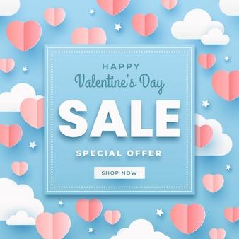 Valentinstagsverkauf mit sonderangebot