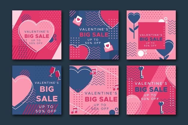 Valentinstagverkauf instagram beitragssammlung