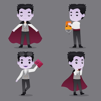 Vampir-charaktersammlung für halloween