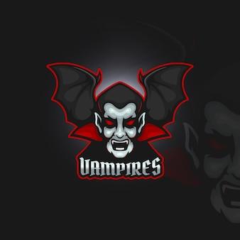 Vampir mit fledermausflügeln esport logo