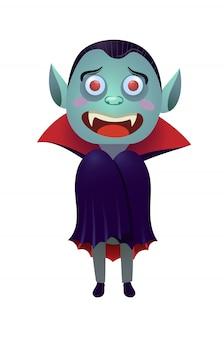 Vampir mit flügelillustration