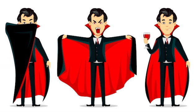 Vampir zeichentrickfigur