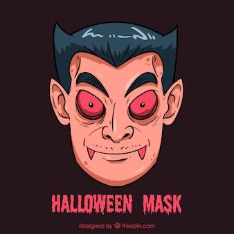 Vampire halloween maske