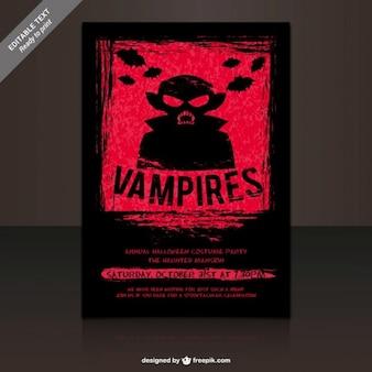 Vampire kostüme partyplakat
