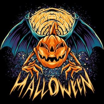 Vampirfledermaus kürbisse halloween