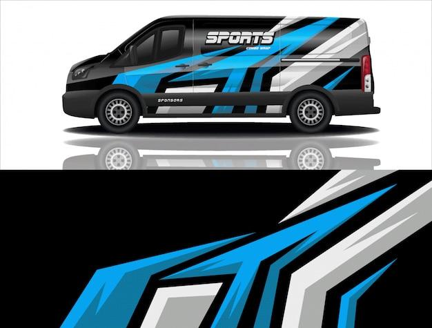 Van auto aufkleber wrap design vektor