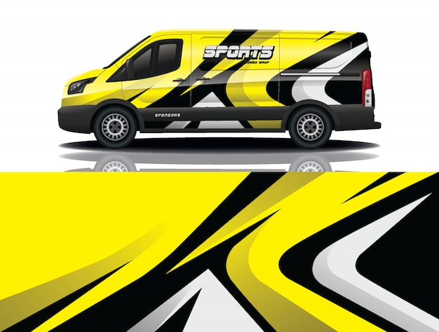 Van auto aufkleber wrap illustration
