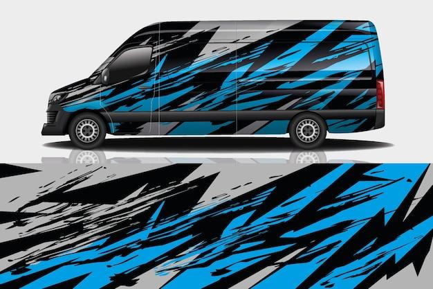 Van car decal wrap design