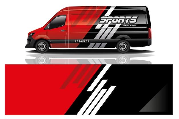 Van car wrap design für unternehmen