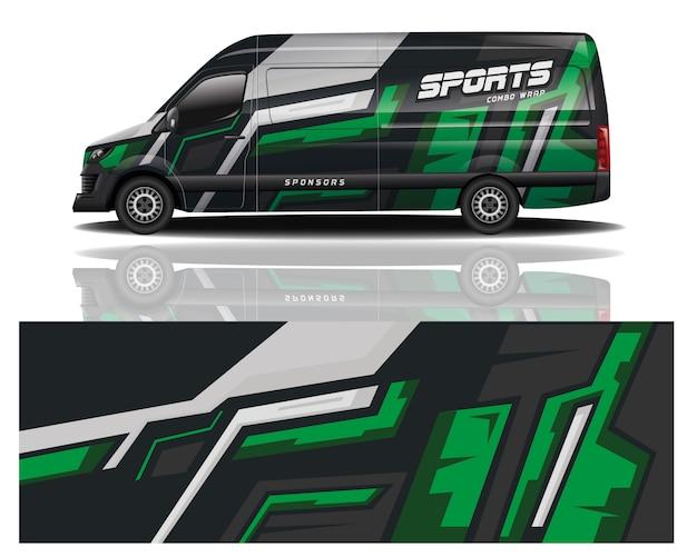 Van car wrap design