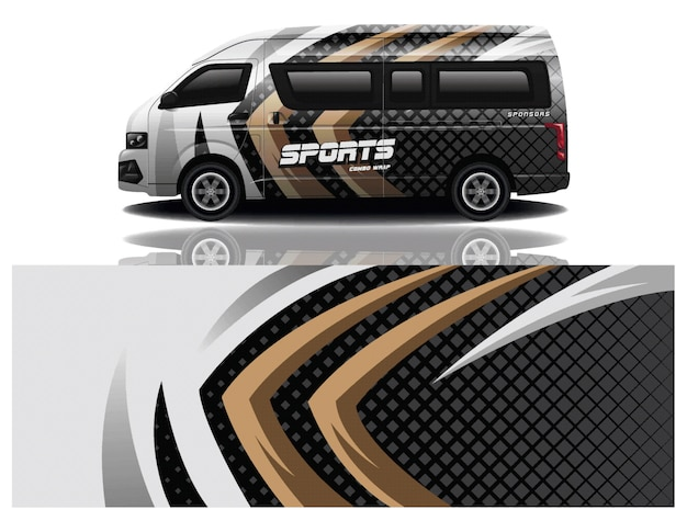 Van car wrapping aufkleber design