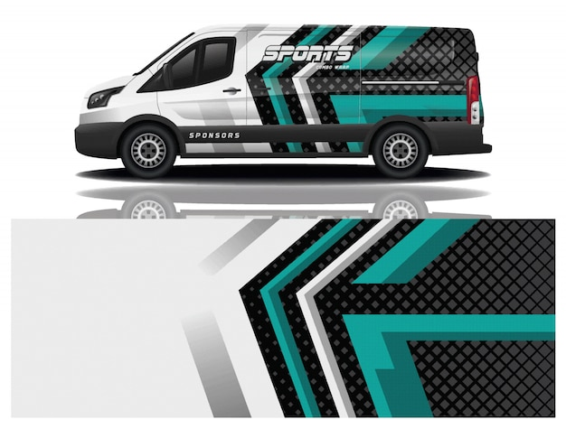 Van car wrapping aufkleber