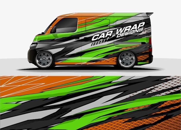 Van grafischer hintergrund. abstraktes designkonzept für moderne linien für auto- und fahrzeuggrafiken vinylfolie