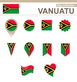 Vanuatu flag collection, 12 versionen