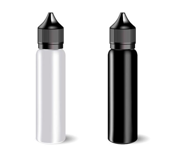 Vape e-flüssigkeitsflaschen mit etikett.