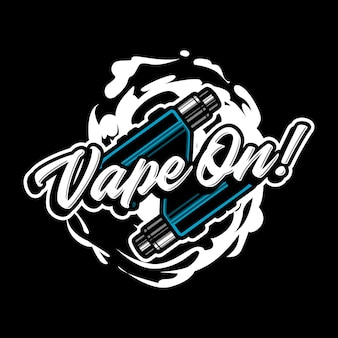 Vape maskottchen logo illustration