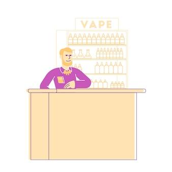 Vape shop geschäftsillustration