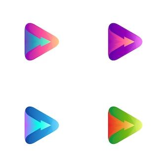 Variation des media play-logos