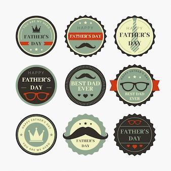Vater-tagesabzeichen-design