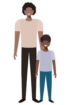 Vater und sohn avatar charakter