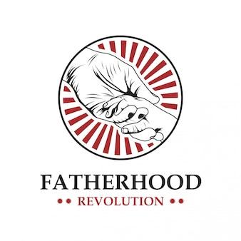 Vaterschaft vektor-logo-vorlage