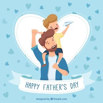 Vatertag hintergrund mit glückliche familie