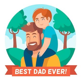 Vatertag mit vater und kind