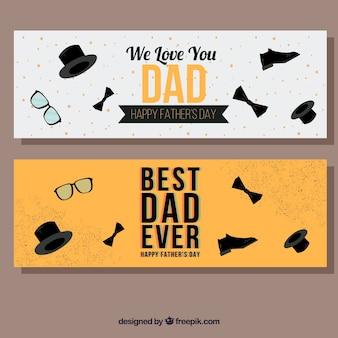 Vatertag verkauf banner in flachen stil