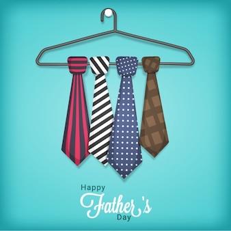 Vatertags hintergrund der kleiderbügel mit krawatte