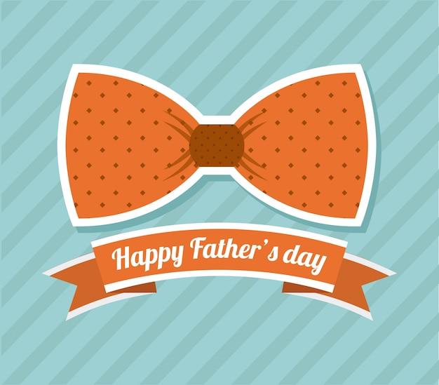 Vatertagsdesign über blauer hintergrundvektorillustration