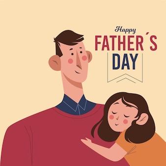 Vatertagsereignis mit flachem design