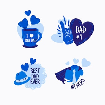 Vatertagsetikettenpaket