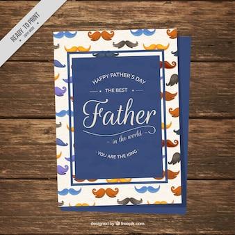 Vatertagskarte mit aquarellschnurrbärte
