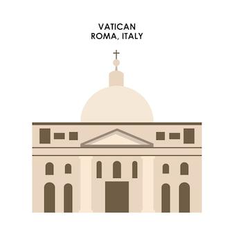 Vatikan-ikone. italien kultur design. vektorgrafik