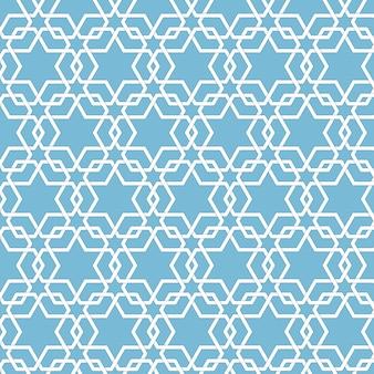 Vector abstract geometrischen islamischen hintergrund. basierend auf ethnischen muslimischen ornamenten. verflochtene papierstreifen. eleganter hintergrund für karten, einladungen etc.