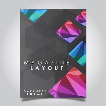 Vector abstract magazin layout-vorlagen-designs