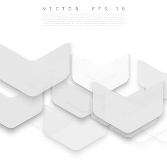 Vector abstrakte geometrische form aus grau.