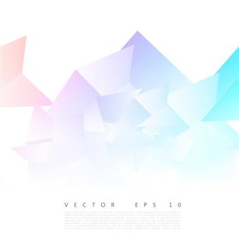 Vector abstrakte geometrische form aus grauem dreieck