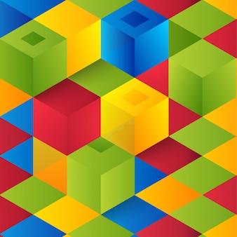 Vector abstrakte geometrische form aus würfeln.