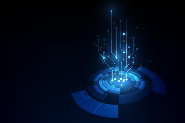 Vector abstrakte zukünftige technologie, elektrischen telekommunikationshintergrund
