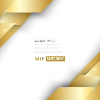 Vector abstrakten geometrischen gold hintergrund.