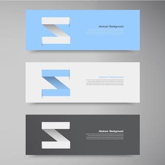 Vector banner design vorlage. etikettenpfeil