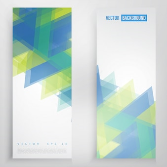 Vector banner und dreiecke.