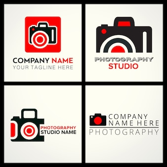 Vector black and red icons für fotografen 4 für fotografie