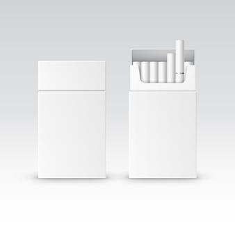 Vector blank pack package schachtel zigaretten