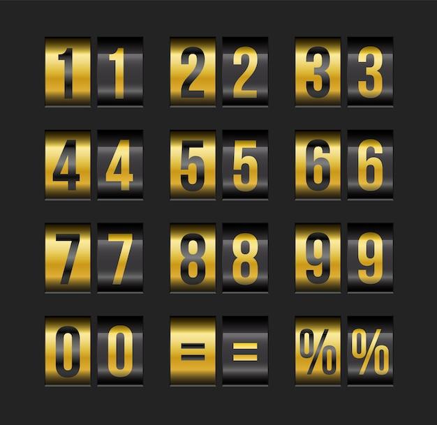 Vector countdown-timer und datum.