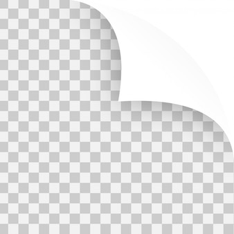 Vector curled ecken von notizpapiere