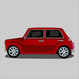 Vector die retro- illustration, klassiker, weinleseauto mini-morris 1967